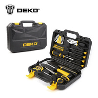 DEKOPRO 40pcs Hand Tool Set General Household Hand Tool Kit with Plastic Toolbox Storage Case Hammer Plier Screwdriver Knife