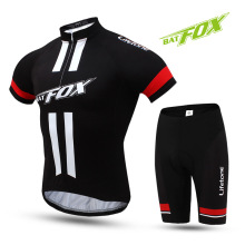 BATFOX Summer Quick Dry Men's Cycling Jersey Set Short Sleeve Road Mountain Bike MTB Bicycle Clothing Sports Suit Ciclismo Ropa