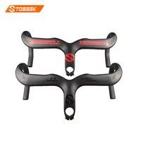TOSEEK Full Carbon Fiber Road Bike Handlebar Integrated Handlebar 3K Matte 400 420440 90 100 110