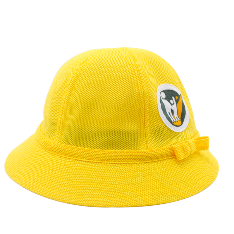 WENDYWU 2017 children hat Japanese kindergarten pupil breathable mesh  children hat yellow boy cap small yellow hat sunscreen -in Hats   Caps from  Mother ... eac8948e17a