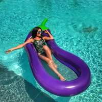 JIAINF Inflatable Mattress Eggplant Cup Holder Swimming Float Party Toys Drinks Float Water Mattress Flamenco Inchable Gigante