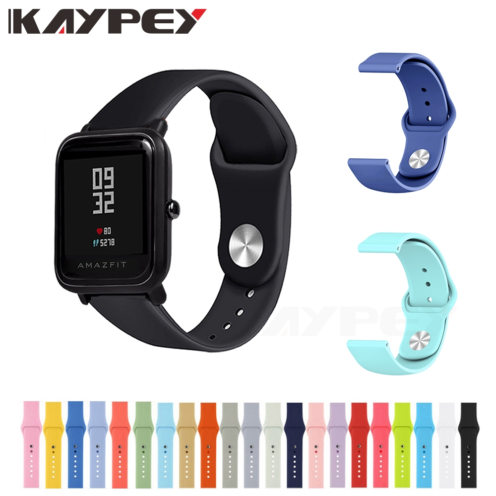 Silicone Soft Strap For Xiaomi Huami Amazfit Bip BIT Lite Youth Smart Watch Wearable Wrist Bracelet Amazfit Watchband 20mm Strap