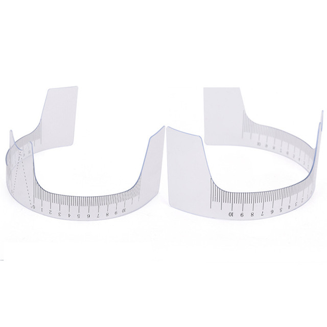 1PCS Eyebrow Grooming Stencil Shaper Ruler Makeup Reusable Measure Tool Eyebrow Ruler Tool Measures 5