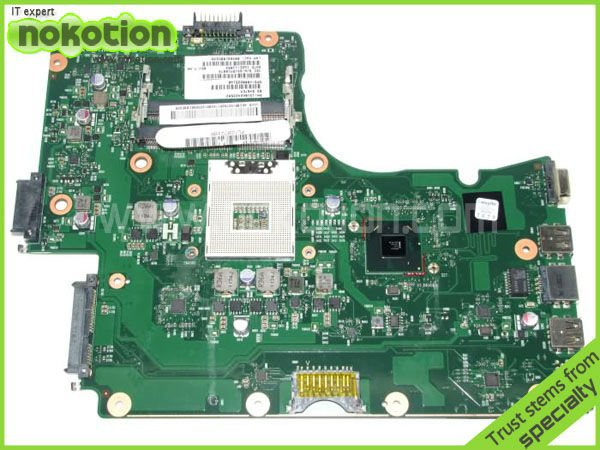все цены на NOKOTION laptop motherboard for TOSHIBA C650 series V000225140 1310A2423502 Mainboard INTEL HM65 GMA HD DDR3 онлайн