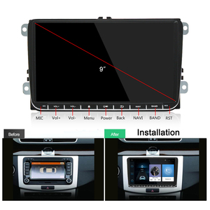 Image 2 - Panlelo Android 2Din lecteur multimédia Autoradio 2 Din GPS Navigation Bluetooth Radi Autoradio 9 pouces écran tactile miroir lien