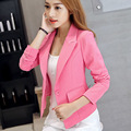 Women Blazers And Jackets Small Korean Version Slim Ladies Blazer Femme  Blazer Feminino Colorido Candy Color Office Suit Rrr86