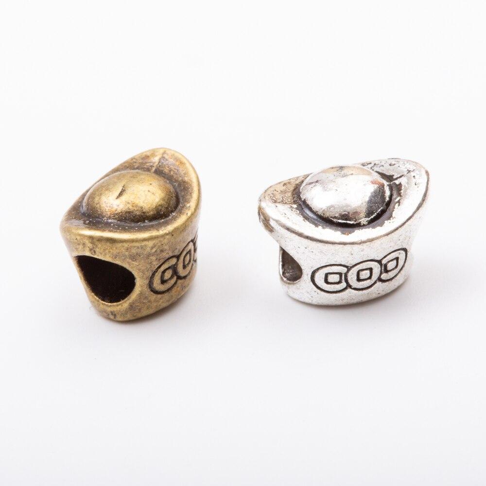 20pcs Metal European ingot beads fit Pandora Charms bracelet & diy jewelry making