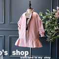 2017 spring  trench coats for girls  clothes 2-8years pink kids jackets and coats children outerwear baby girl snowsuits