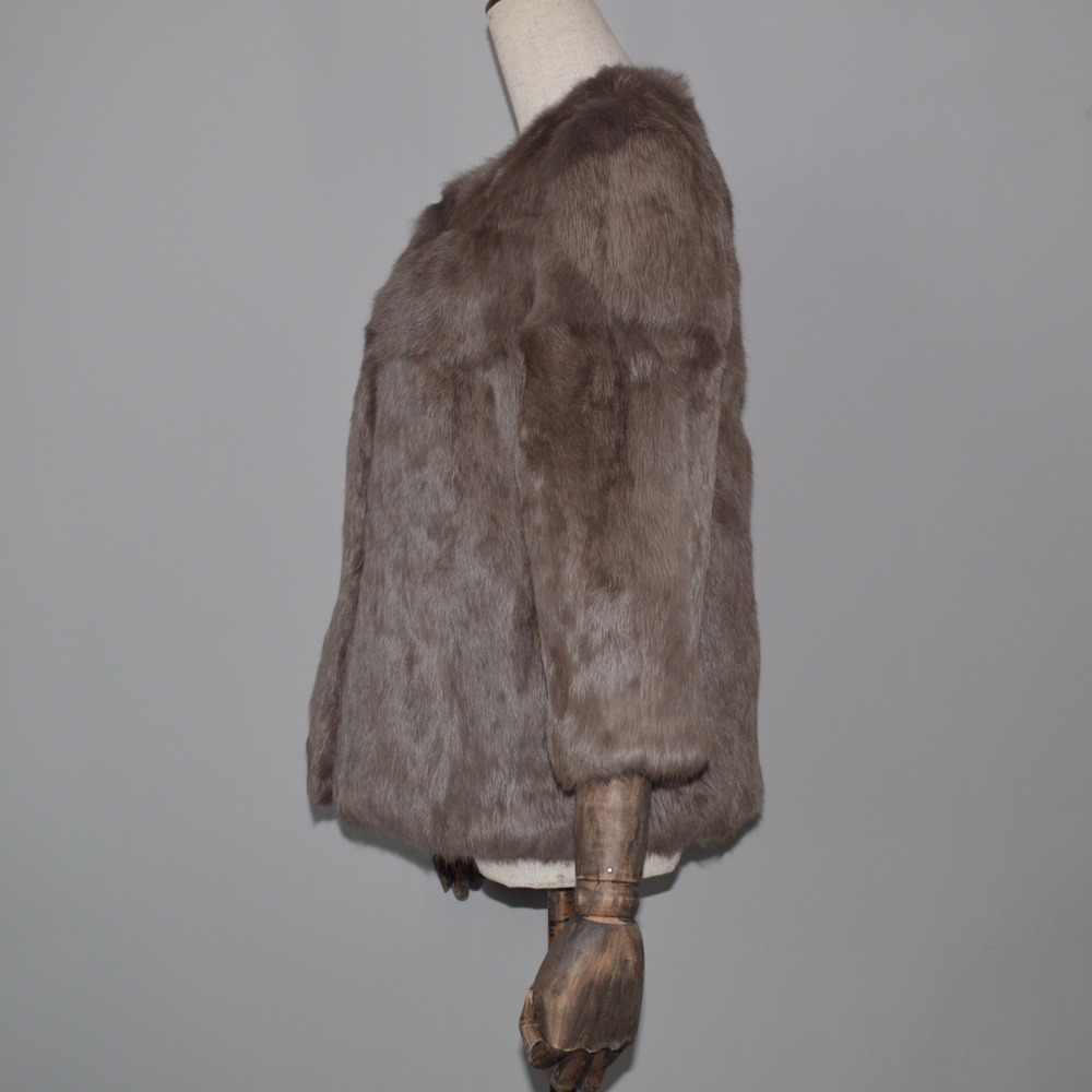 Bán buôn Bán Lẻ Phụ Nữ Thời Trang Bất Rabbit Fur Coat Phụ Nữ Mùa Đông Ấm Áp Chính Hãng Thỏ Lông Thú Áo Khoác 100% Tự Nhiên Lông Thỏ Áo Khoác Ngoài