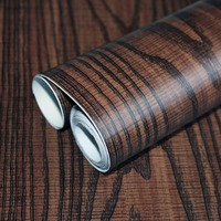 HaokHom Wood Peel and Stick Self Adhesive Wallpaper For Walls 3d Wood color Covering furniture Sticker Shelf and Drawer Liner