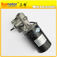 GW82120 38rpm DC 24V 1200N*cm Low rpm High Power Worm Gear Reducer Electric Motor Windshield wiper Garage door replacement Spit