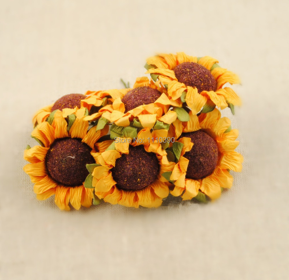 Artificial Sunflowers Flower Bouquets Fake Sunflowers Tissue Paper