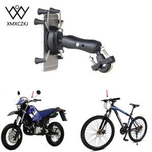 Image 5 - Универсальный держатель для телефона для велосипеда, мотоцикла, MTB, с регулируемой рейкой, X Grip, для iPhone, Samsung, GPS