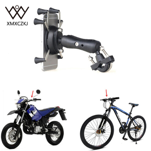 Image 5 - Universal Bike Bicycle Motorcycle MTB Bike Phone Holder Adjustable Rail Mount/X Grip Phone Holder For iPhone For Samsung For GPS