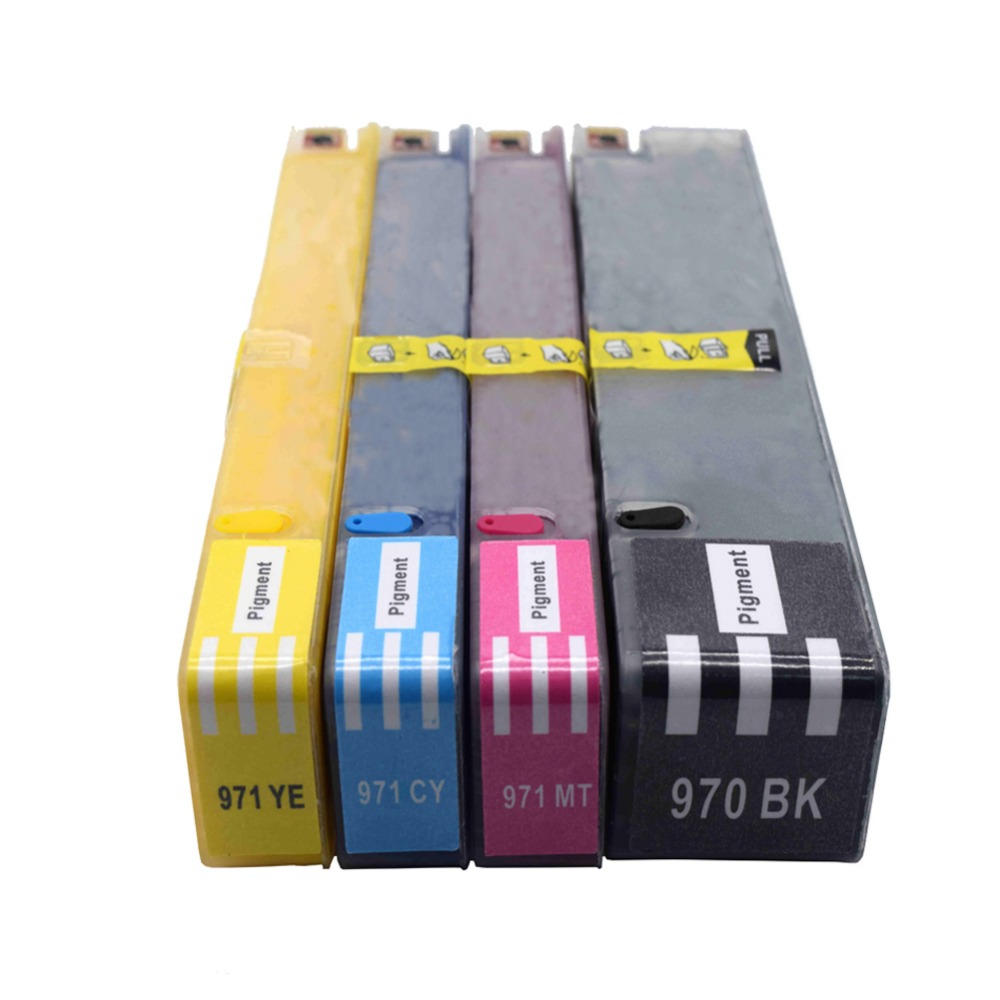 4PK Ink Cartridge for HP 970XL 971XL hp970 971 Compatible with X451dn/X451dw/X551dw/X476dn/X476dw/X576dw printer hwdid 56xl 57xl ink cartridge compatible for hp 56 57 c6656a c6657a deskjet 450ci 5550 5552 7150 7350 7000 2100 220 printer