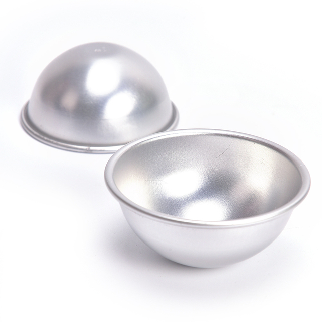 2Pcs 3D Ball Sphere Shape Bath Bombs Creative Mold Metal Aluminum Alloy Bath Bomb Mold DIY Bathing Tool Accessories 1
