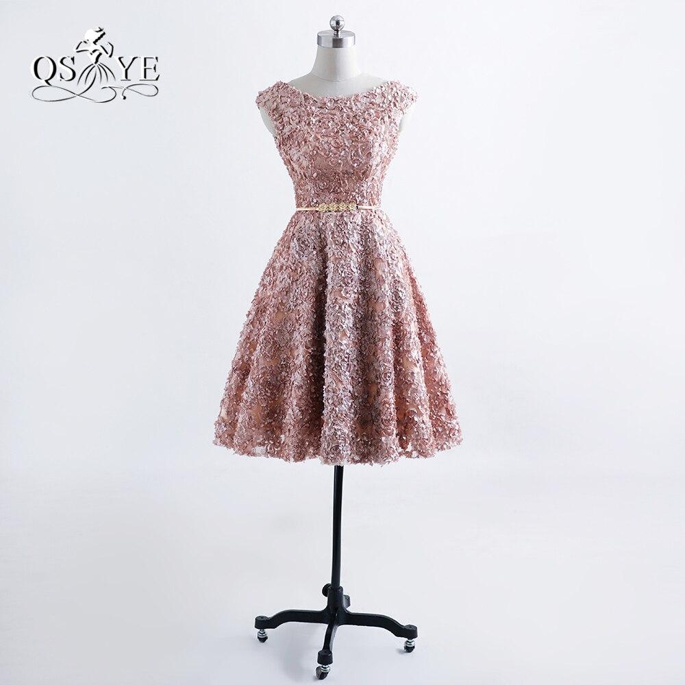 Sexy Short Prom Dresses For Teens 8th Grade Evening Party Dress Putih Renda A30554 2017 New Fashion Pendek Robe De Soiree 3d Floral Lace Bunga Emas Sash Homecoming