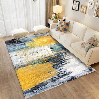 Carpet Living Room Nordic Coffee Table Carpet Modern Minimalist Abstract Art Bedroom Bedside Mat
