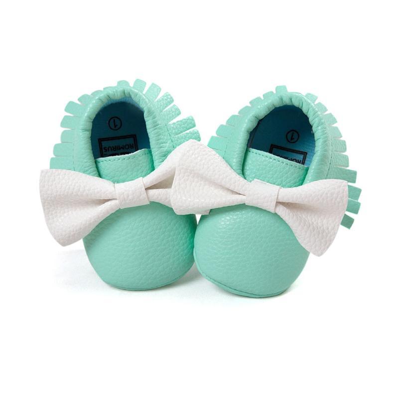Handmade Soft Bottom Fashion Tassels Baby Moccasin Newborn Babies Shoes PU leather Prewalkers Boots 17Dec27
