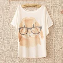 Retro Cool Punk  Eye dog T-shirt