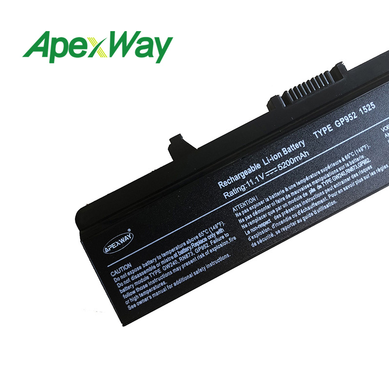 11.1V  laptop battery for DELL 1545 1546 D608H GW240 HP297 RU573 RU583 RU586 RW240 RN873 X284G XR693 M911G P505M UK716