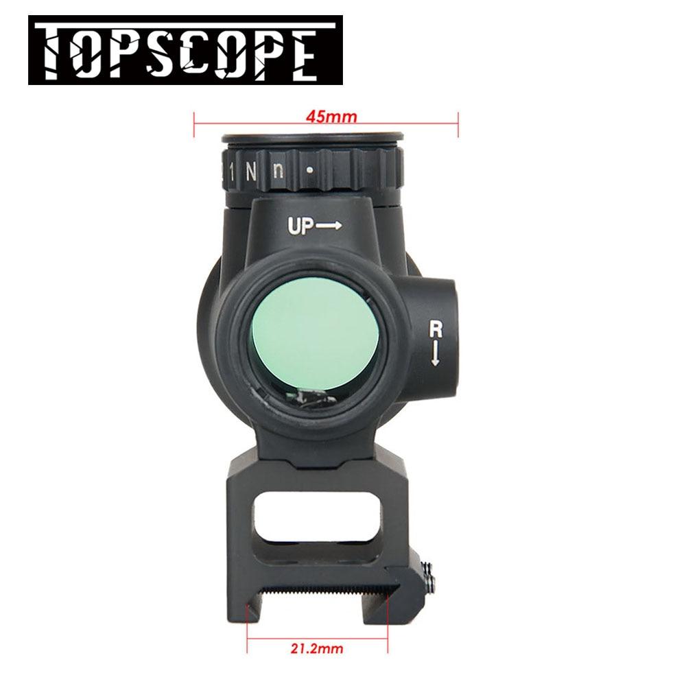 MRO Style holographique point rouge viseur optique portée tactique airsoft avec 20mm portée de montage pour chasse airsoft