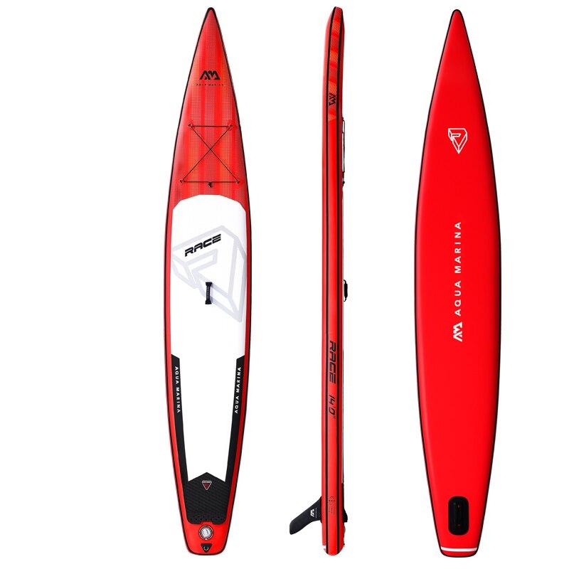 Nuevo 427*69*15 cm AQUA MARINA 2019 carrera inflable sup stand up padel tabla inflable surf tabla de surf deportes Acuáticos de velocidad de carrera rápida