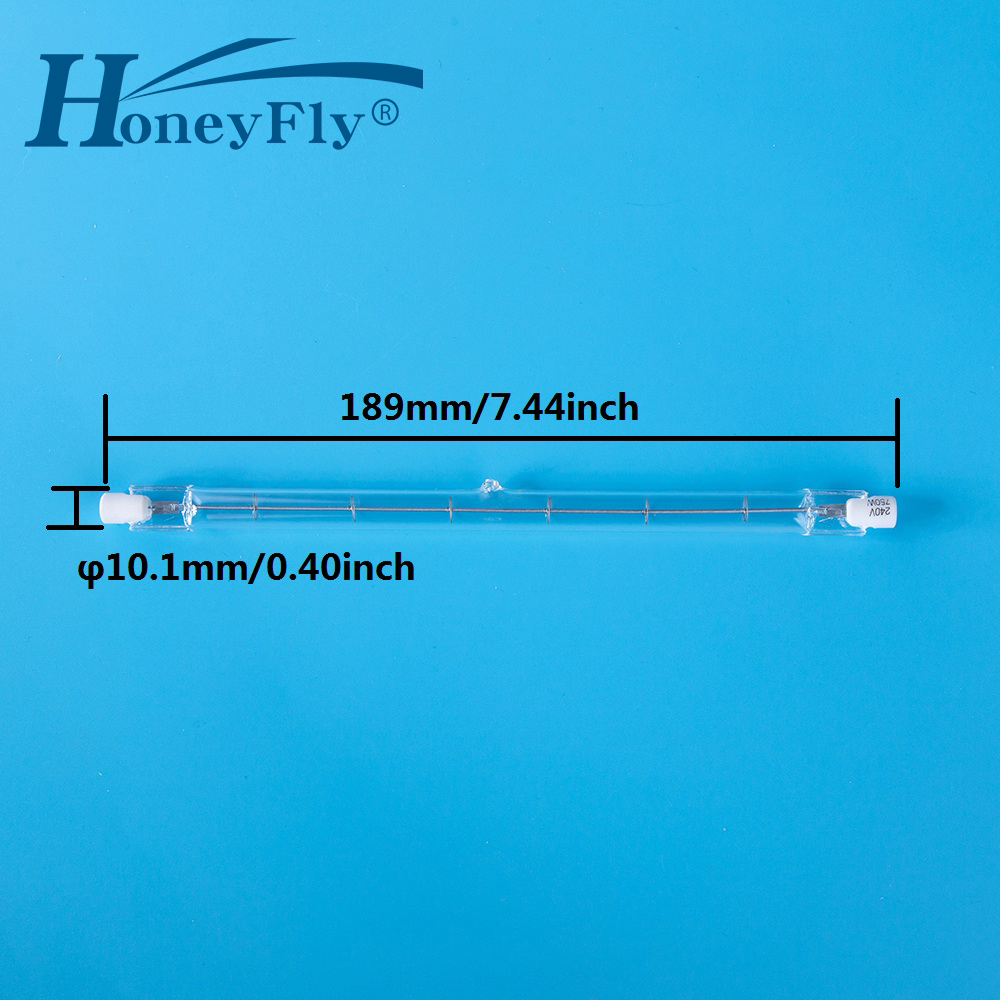 HoneyFly 2pcs 189mm New Linear Halogen Lamp J189 220V/110V 750W 1000W R7S Double Ended Filament Flood Lights Quartz <font><b>Tube</b></font> image