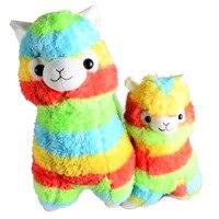 Rainbow 1 Alpaca Vicugna Pacos Plush Toy Japanese Soft Plush Alpacasso Baby Plush Stuffed Animals Alpaca