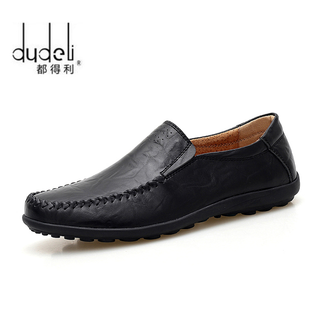 fe119bd7e0aa DUDELI Italian Mens Shoes Casual Brands Genuine Leather Men Loafers Luxury  Moccasins Comfy Breathable Slip On Boat Shoes Men