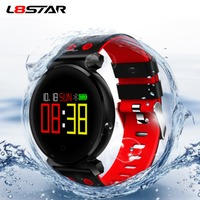 L8STAR K2 Bluetooth Smart Watch IP68 Waterproof Colorful OLED Smartwatch Blood Pressure Heart Rate Monitor Band For iOS Android