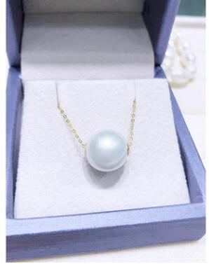 CAN015 100% Real Freshwater Pearl & 100% Silver 925 Necklaces & Pendants Water Drop Shape Free Shipping