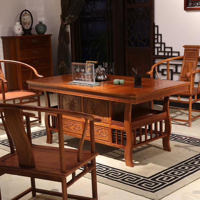 Solid Wood Furniture Antique Mahogany Tea Table Tables And Chairs Combination Of Taiwan Africa Rosewood Coffee