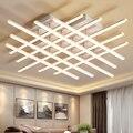 TRAZOS  прямоугольные Алюминиевые Современные светодиодные потолочные лампы для гостиной  спальни  AC85-265V  белые потолочные светильники  2019