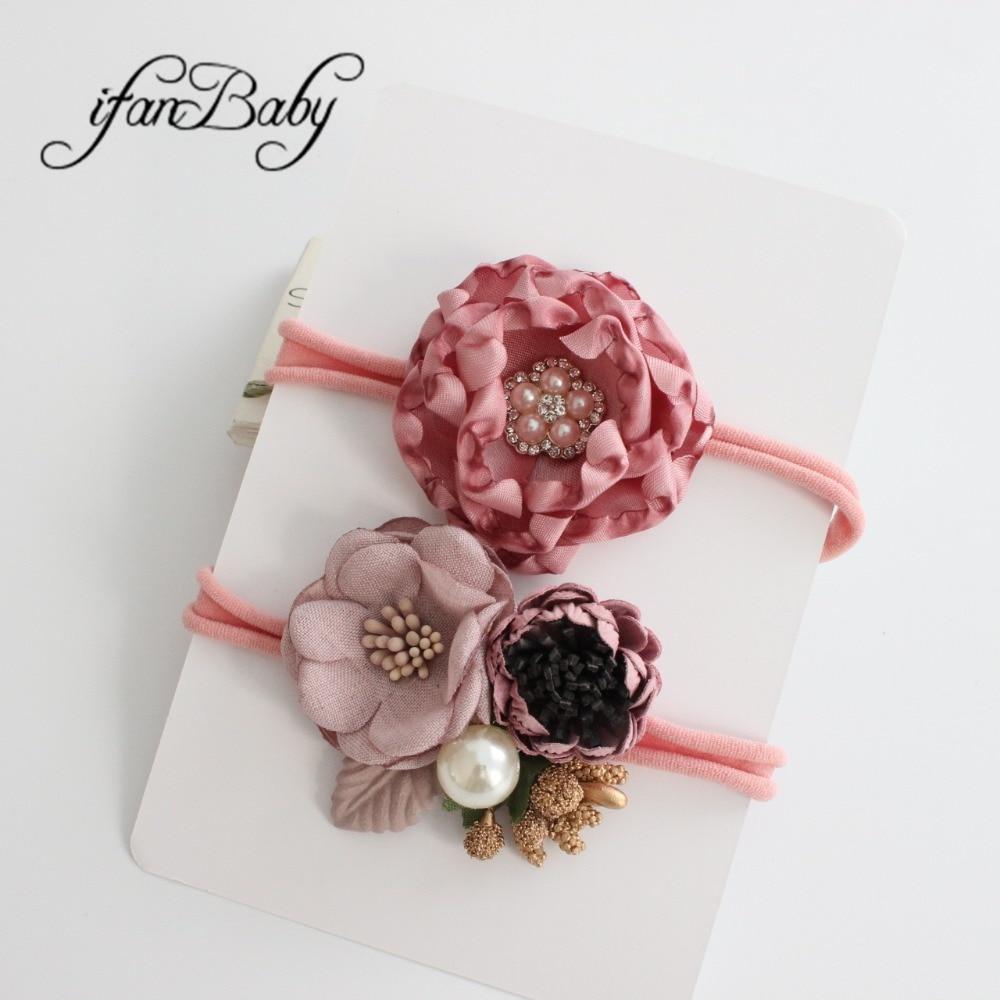 kids girl nylon flower headband (3)