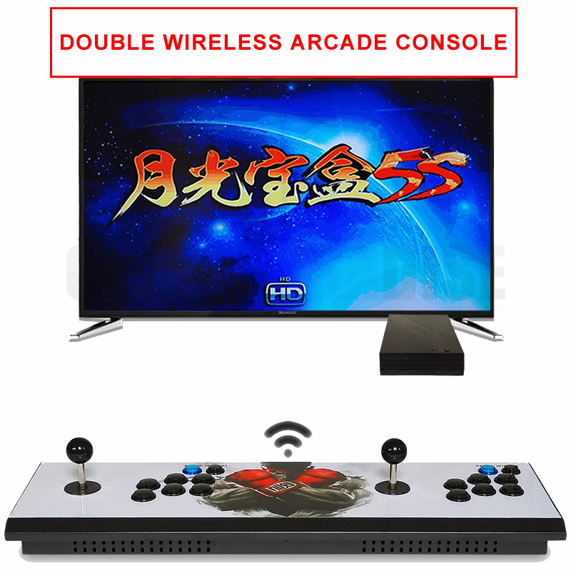 Pandora 6S 1388  in 1 zero delay wireless arcade game console with arcade button and joystick VGA HDMI output