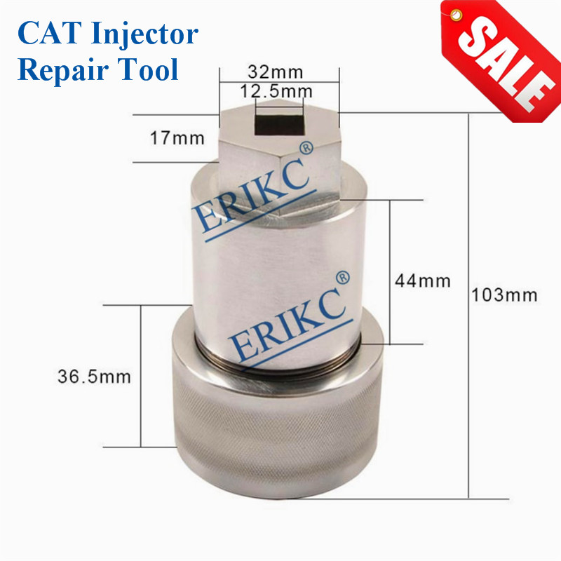 цена на ERIKC CAT Professional C7 C9 C13 C15 C3126 Diesel Common Rail Auto Fuel Injector 32mm Disassembly Assembly Tool CRT088