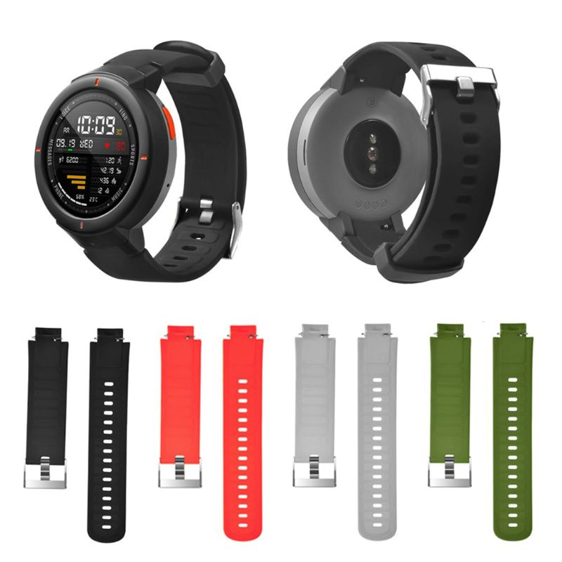 Watchband Wrist Band Strap Bracelet Silicone Adjustable Replacement for Xiaomi Huami Amazfit Verge Watch