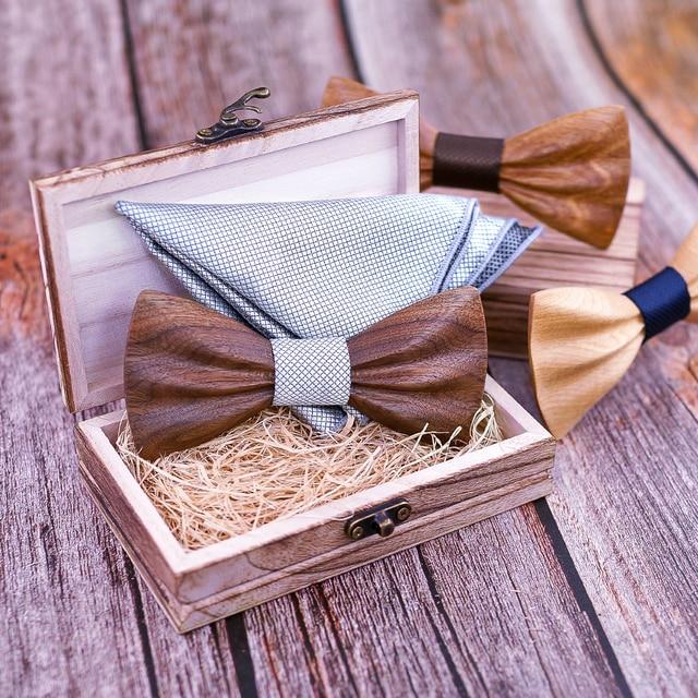 Boy's Fashion Wooden Bow Tie Set 5