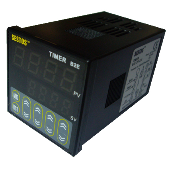 Sestos Digital Twin Timer Relay Time Delay Relay Switch 110-220V Black B2E