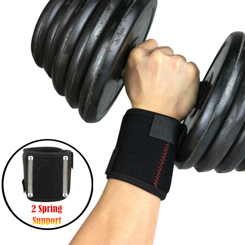 2PC Spring Support Weightlift Bandage Hand Wrist Wraps Fitness Protect Sport Wristband Wrist Protector Brace Gym Wristband Tools