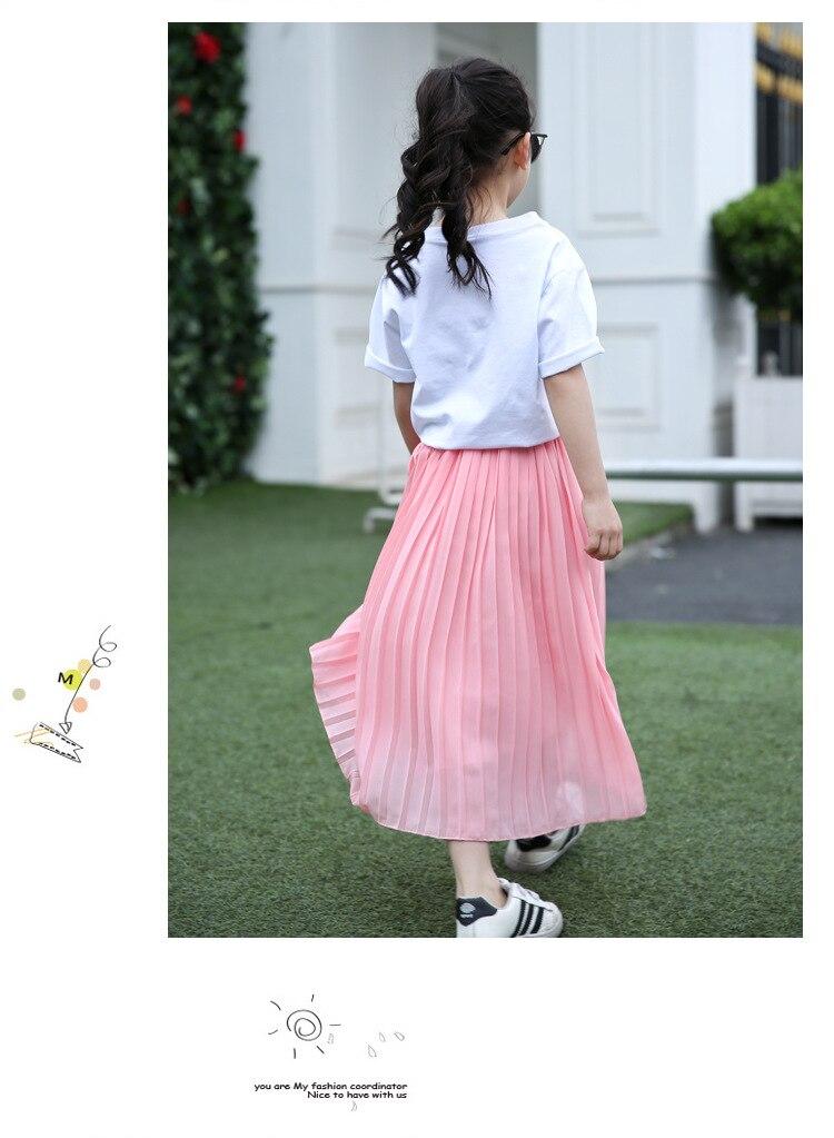 Meninas saia longa crianças roupas crianças rosa