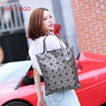 Miyak Issey Bolsos de Moda bolso de Patchwork Geometría de Forma De Diamante PVC holográfica Láser Bolso de Las Mujeres Bolsa de Hombro 6*7