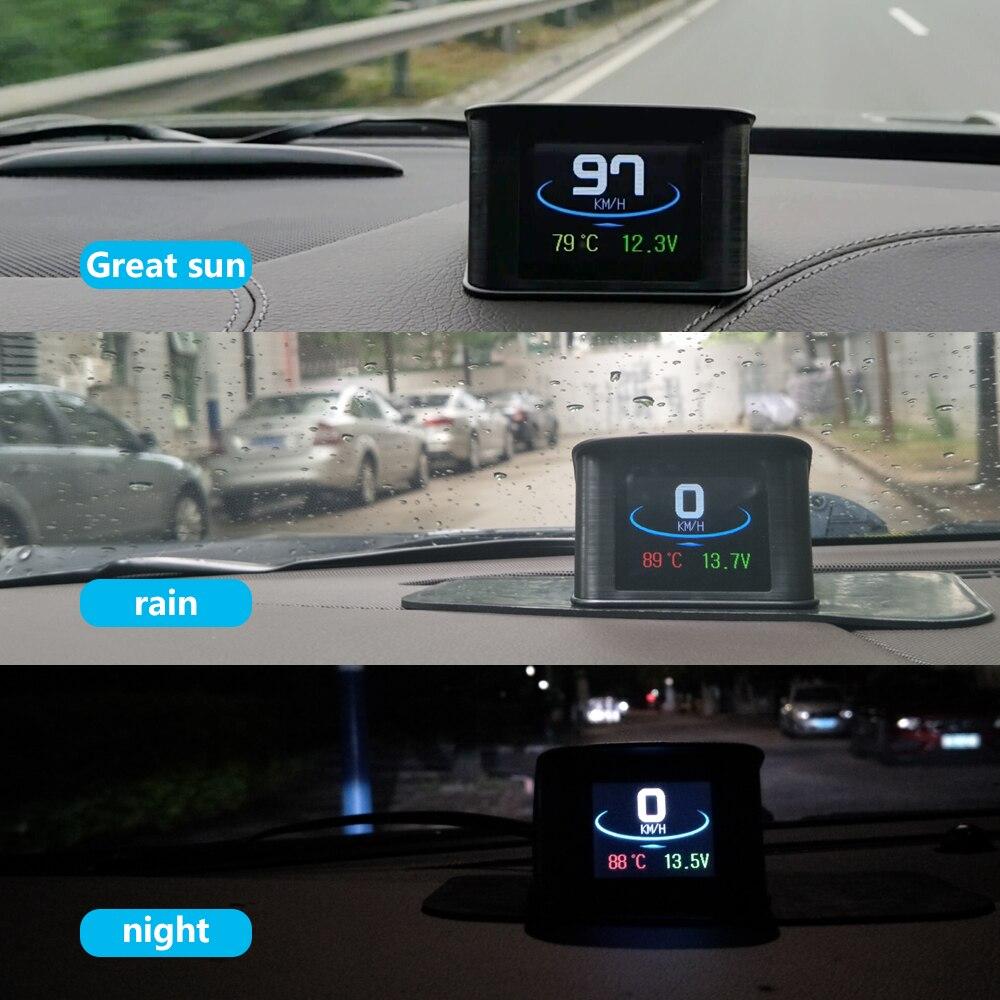 Image 4 - Geyiren P10 OBDII автомобиль поездки бортовой компьютер T600 Автомобильный цифровой GPS OBD2 OBD Спидометр дисплей Температура воды измеритель об/мин-in Проекционный дисплей from Автомобили и мотоциклы