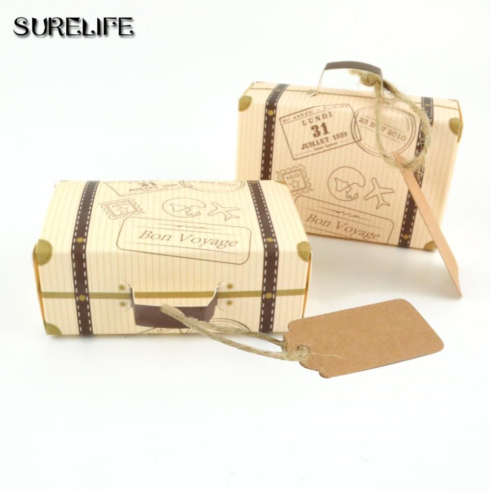 Wedding Favor Chocolate Boxes Vintage Mini Suitcase Candy Box Sweet ...