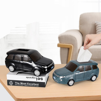 Creative simulation car model resin tissue box Unique car home office decoration tissue box