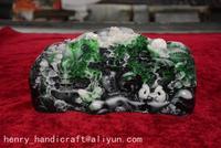 Zeldzame Chinese 100% Natuurlijke ShouShan Steen Hand Gesneden Decoratie Landschap, Mountain goden, #01, Gratis verzending