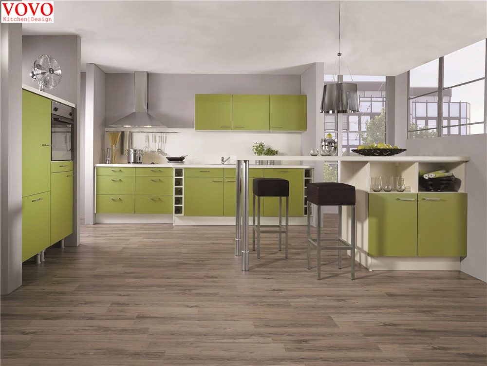 Fresh green lacquer kitchen cabinet-in Kitchen Cabinets ...