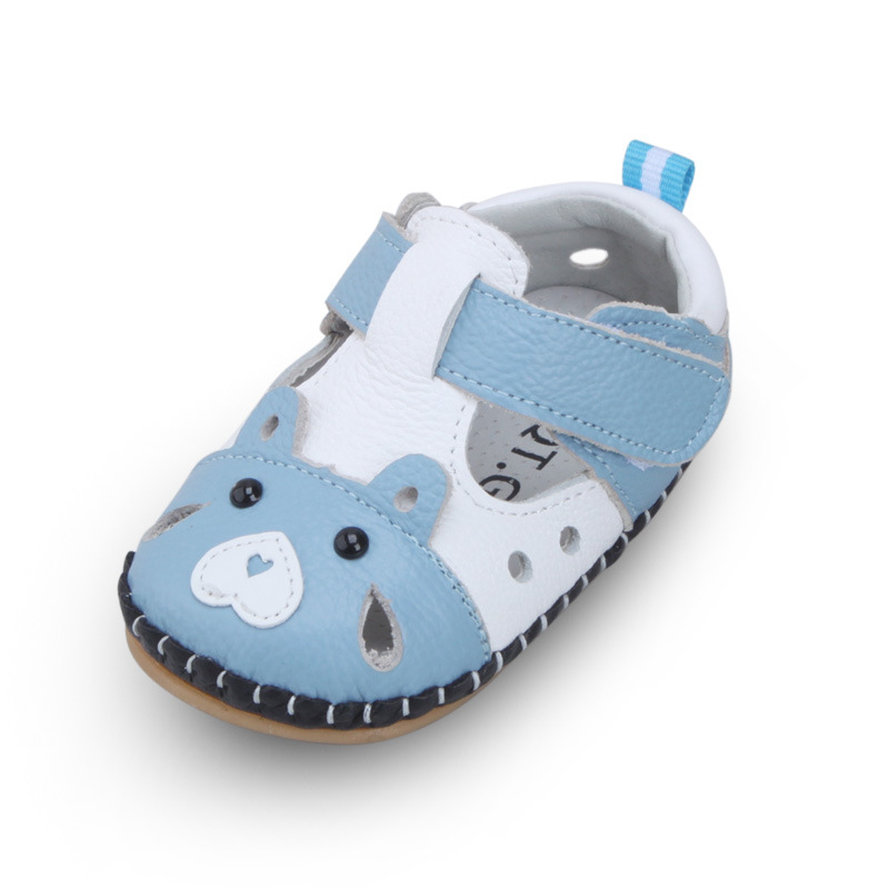 XQT.GZ Newborn Baby Girls Boys Shoes Baby Prewalker Hollow Out Shoes Infant Ox Leather Shoe Cute Cartoon Casual Toddler Shoes infant toddler baby boys girls soft sole crib shoes sneaker prewalker 0 12months py1