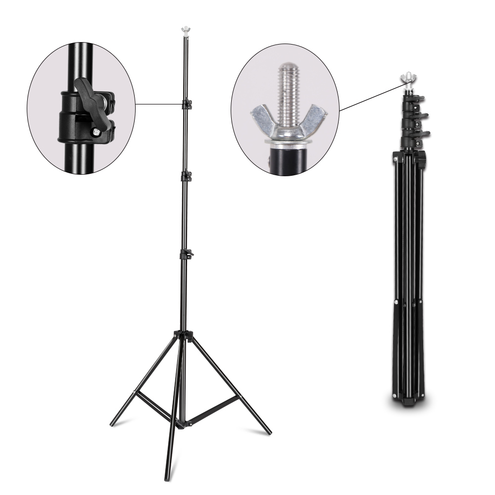 Image 4 - Background Stand Support System 2.6M x 3M/8.5ft x 10ft Kit with Carrying Case for Muslins Backdrops,Paper and Canvas-in Background from Consumer Electronics